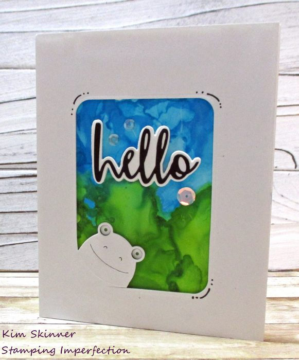 simon says stamp may card kit and tim holtz alcohol pearl inks