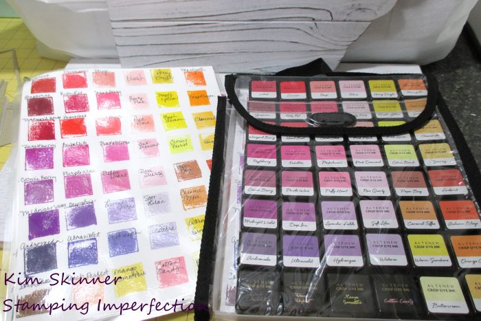 Mini Ink Pad Storage and Swatch Idea with Totally Tiffany