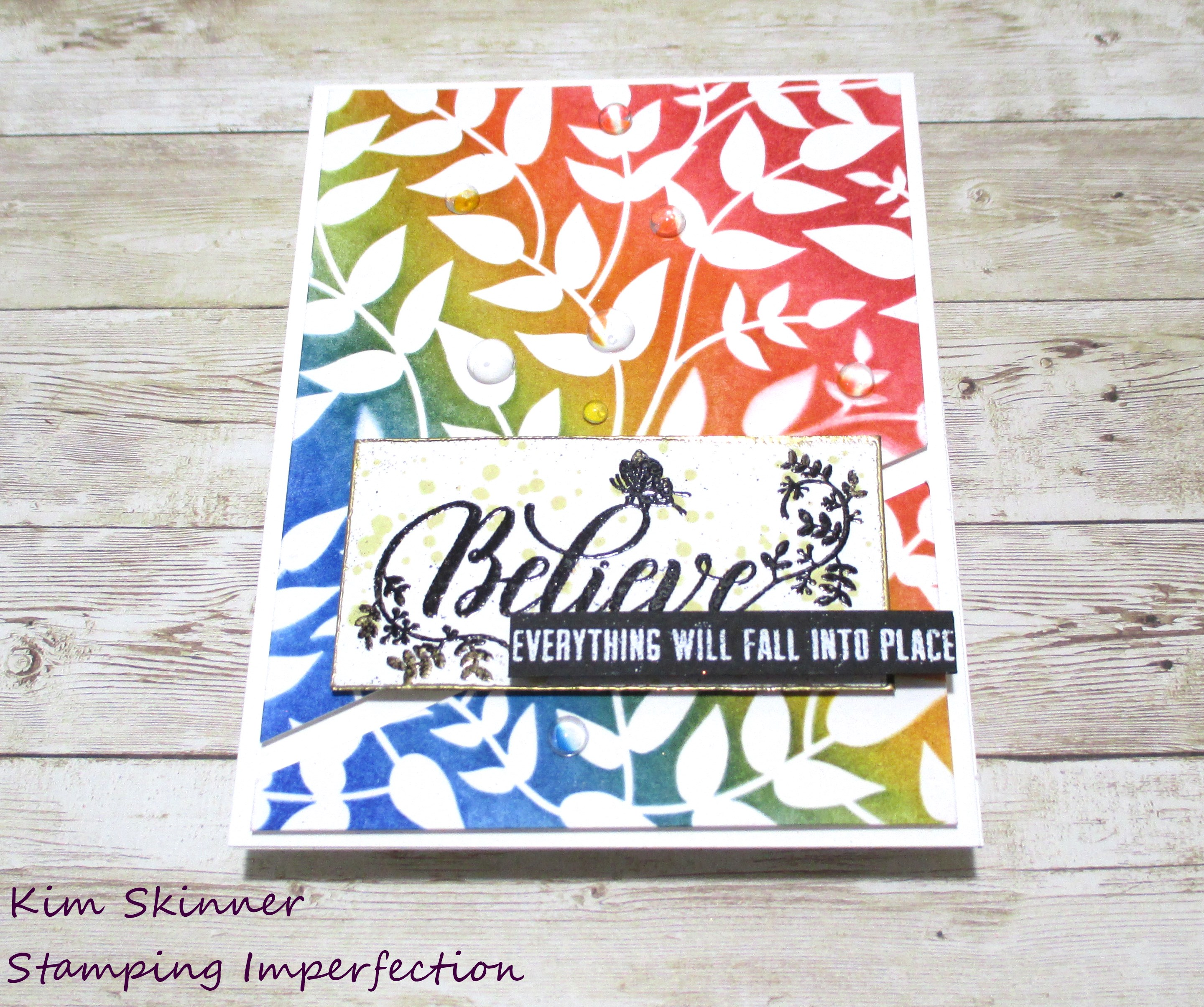 Quick Card With Background Stencil Ink Blending | |