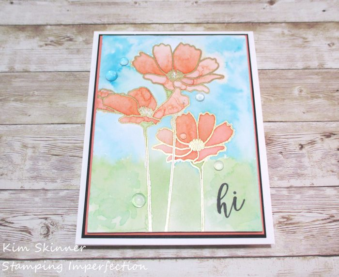 Flowers in Bloom MFT Stamps Color Burst Trio