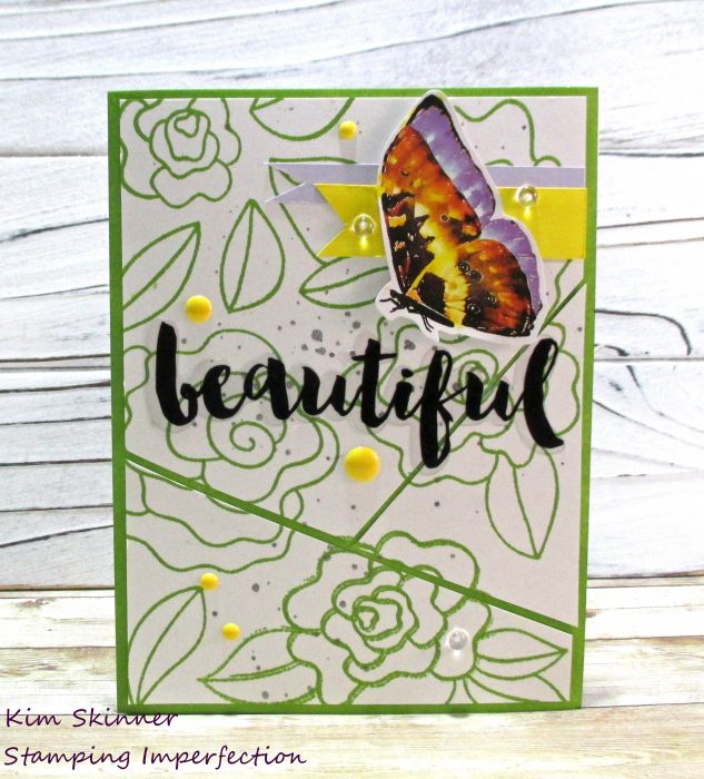 quick card using stickers and stamping