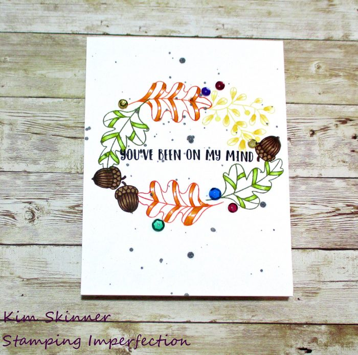 clean and simple single layer fall card with catherine pooler stamps