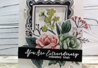 adding hand colored details to store bought die cuts
