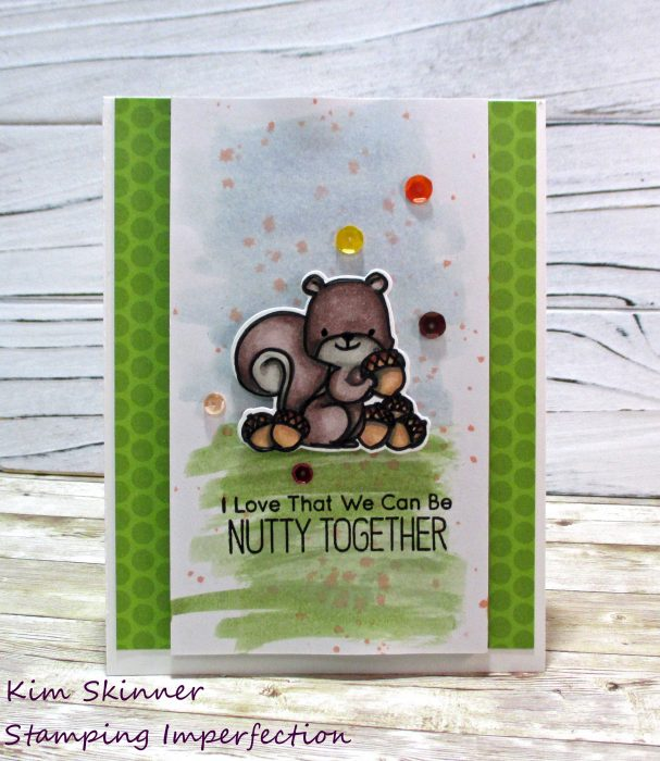 mft stamps squirrel and fall colors