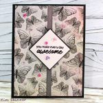Use Patterned Paper For A Quick Card Background