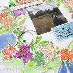 Stamp And Scrap Sunday:  Altenew Fall Scrapbook Page