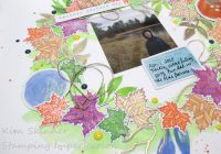 Altenew October Scrapbook Sketch Fall Layout