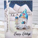 Copic Coloring Winter Gnome