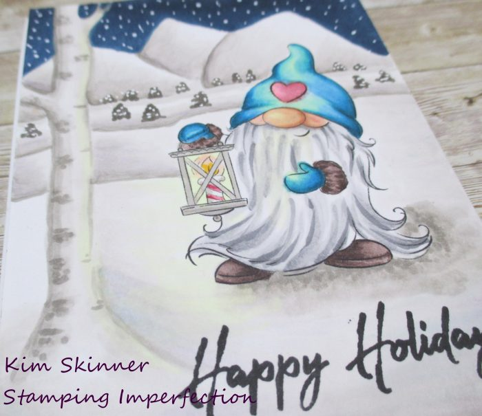 Copic Marker Coloring Winter Gnome