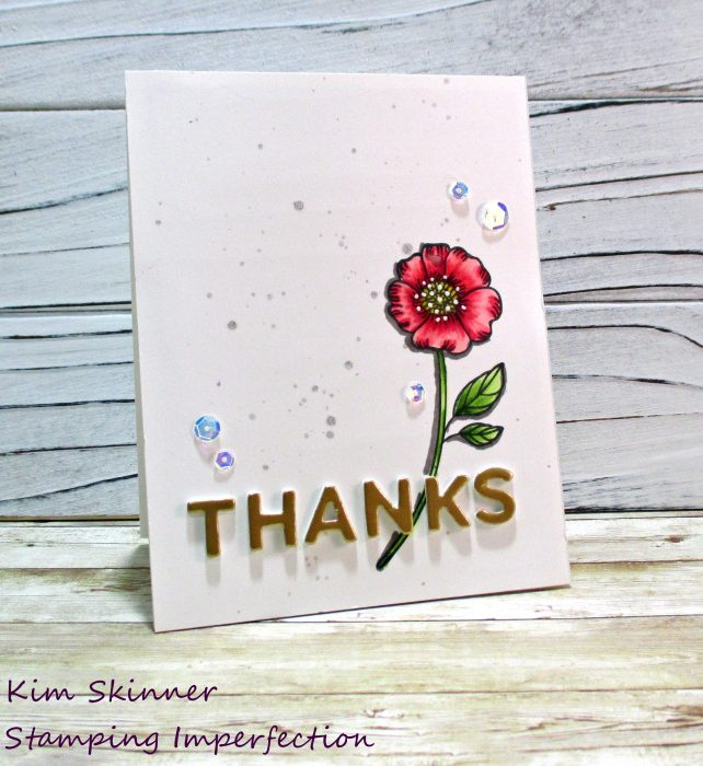 Simon Says Stamps Thankful Flower + alcohol markers