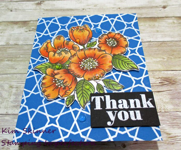Simon Says Stamp Thankful Flowers Color Blending