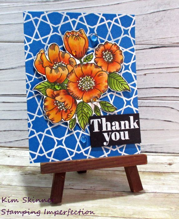 Simon Says Stamp Thankful flowers alcohol coloring