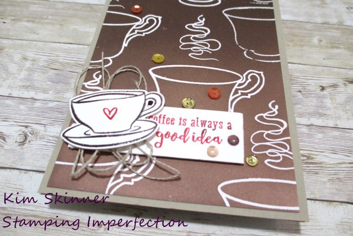 Coffee Lovers Blog Hop Ombre Background card