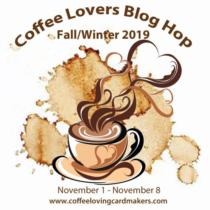 Coffee Lovers Blog Hop Ombre Resist background