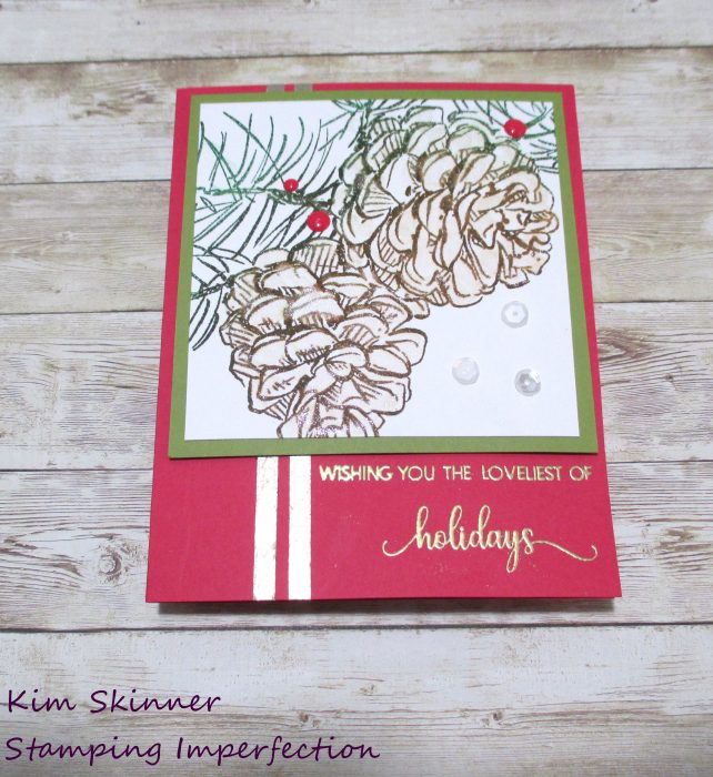 Colorado Craft Company Pine Cone and Branches Quick Christmas Card