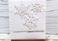 Monochrome Altenew Snowflake diecut card