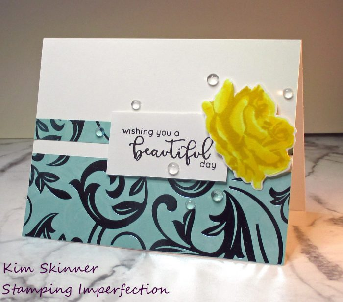 Use Metallic elements to add a special touch to cards.