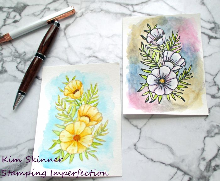 Artist watercoloring two ways