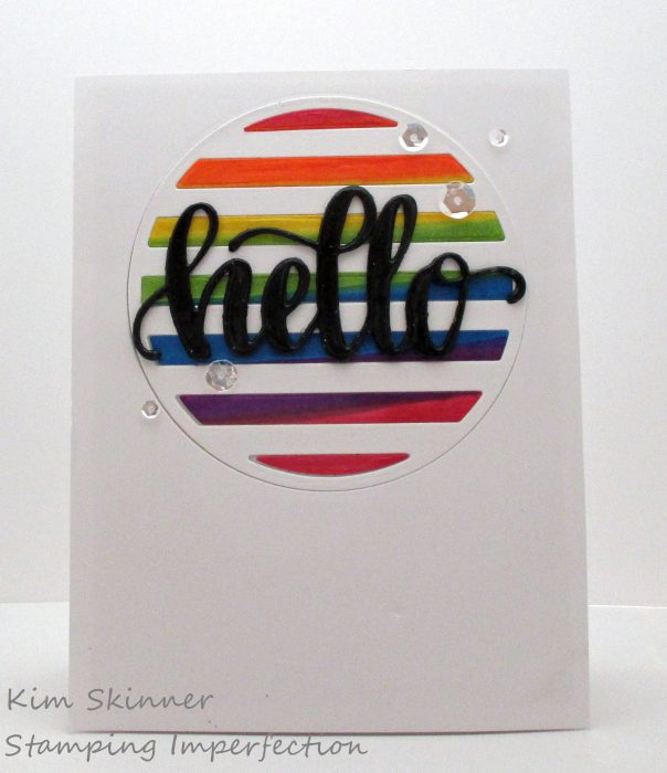 Inlaid die cutting with Catherine Pooler Circle Striped die