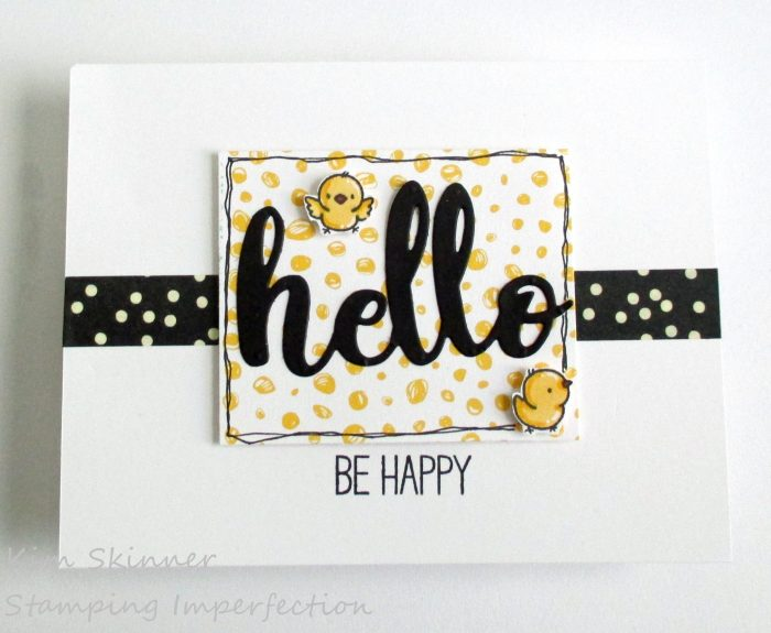Clean and Simple Card With MFT Stamps Happy Hippos