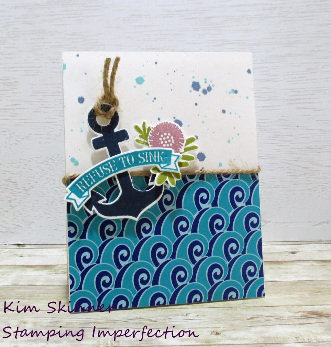 create a card with a sketch and catherine pooler's unsinkable collection