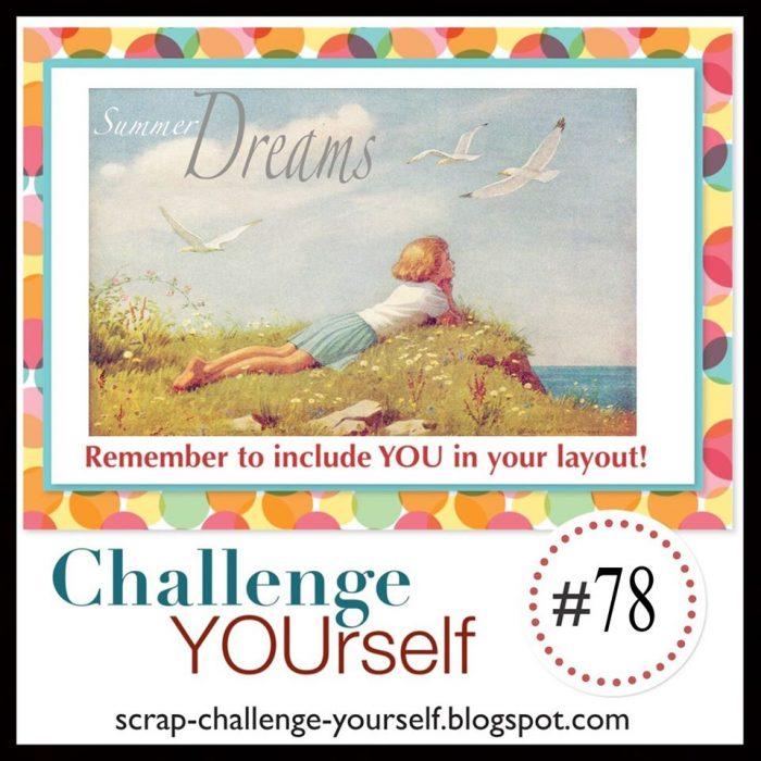 challenge yourself scrapbook challenge for june