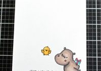 Happy Hippos CAS Card MFT Stamps and alcohol marker coloring