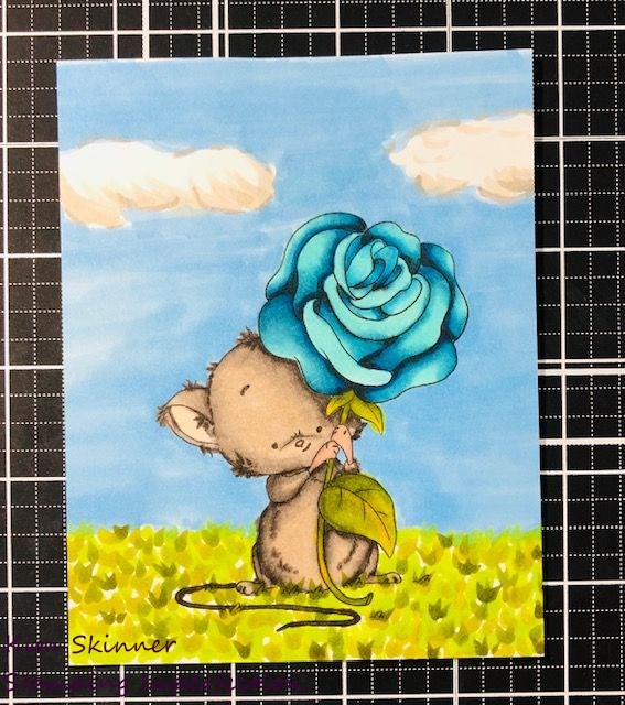 mouse rose from lee holand art with alcohol markers
