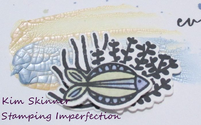 Use Nuvo Crackle Mousse With Catherine Pooler's Vitamin Sea To Create A Quick Card