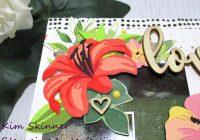 altenew 3D floral layering dies scrapbook layout