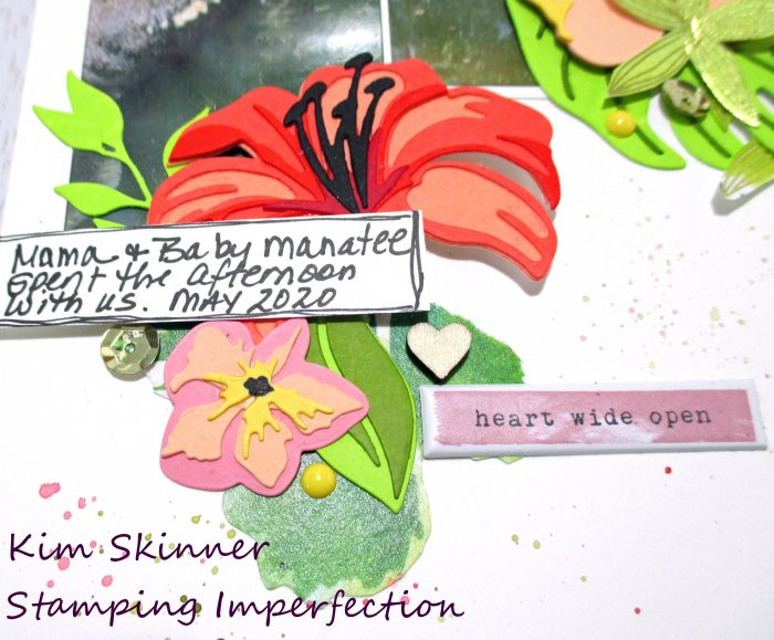 altenew 3D floral layering dies scrapbook layout
