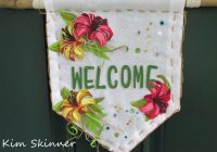 diy front door welcome banner home decor