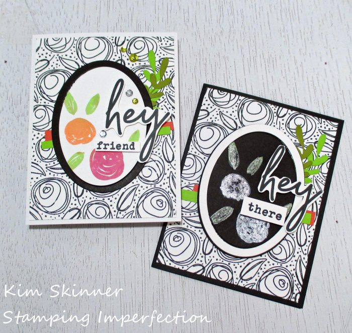 black and white background with pops of color using Taylored expressions scribbled roses