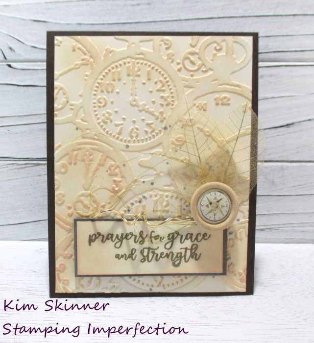Stash diving to create a distressed card