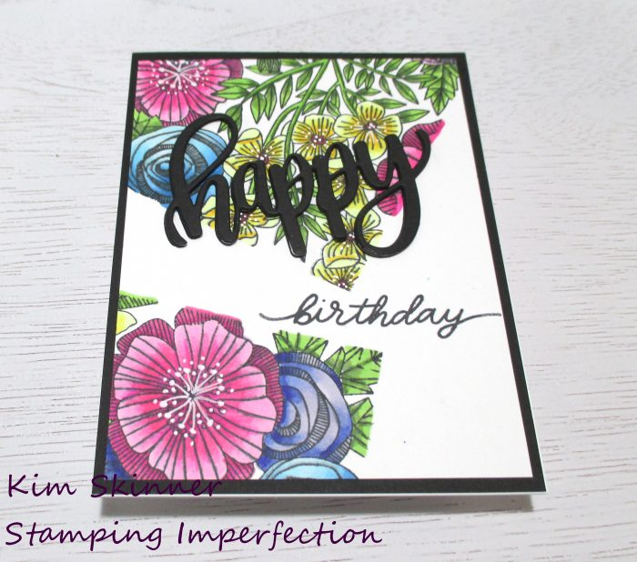 Catherine Pooler 4 cards and a tag with Cottage Garden Background stamp