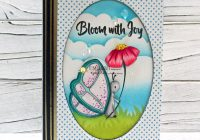 Digital Stamp Butterfly and Flower Card and Bookmarks