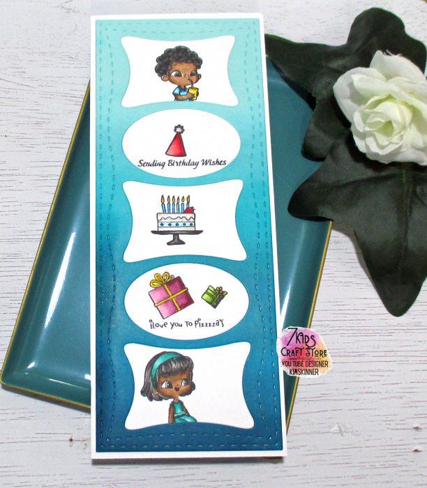 7 Kids Crafts Birthday Card with Pizzeria Kids