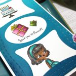Creating My First Slimline Card With 7 Kids Craft Store's Pizzeria Stamp Sets