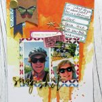 Challenge YOUrself for August: Vacation Scrapbook Layout