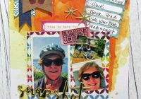 Challenge yourself august scrapbook vacation layout