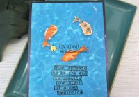 Creating fish is a pool scene cards
