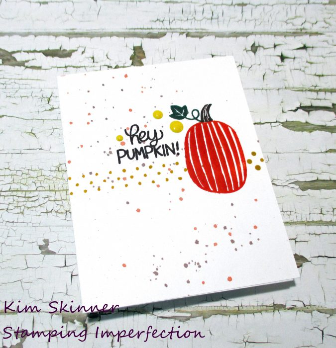 Quick and Easy Single Layer Card: Hey Pumpkin