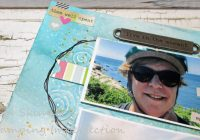 Create a quick and easy mixed media background for a scrapbook layout