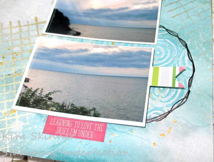 Create a quick and easy mixed media scrapbook layout with distress inks