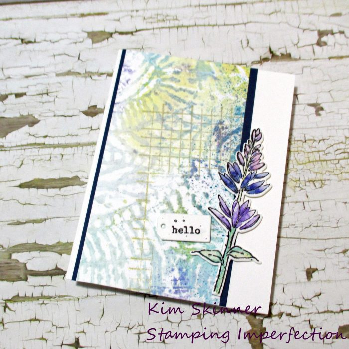 Using mixed media to create card backgrounds and art journal pages