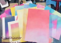 Mixed media backgrounds with distress oxides