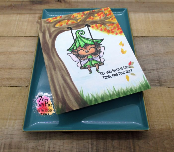 Create your own background with copics and the 7 kids crafts tree house faeries