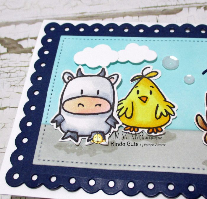Cute critters digi stamp on a slimline card