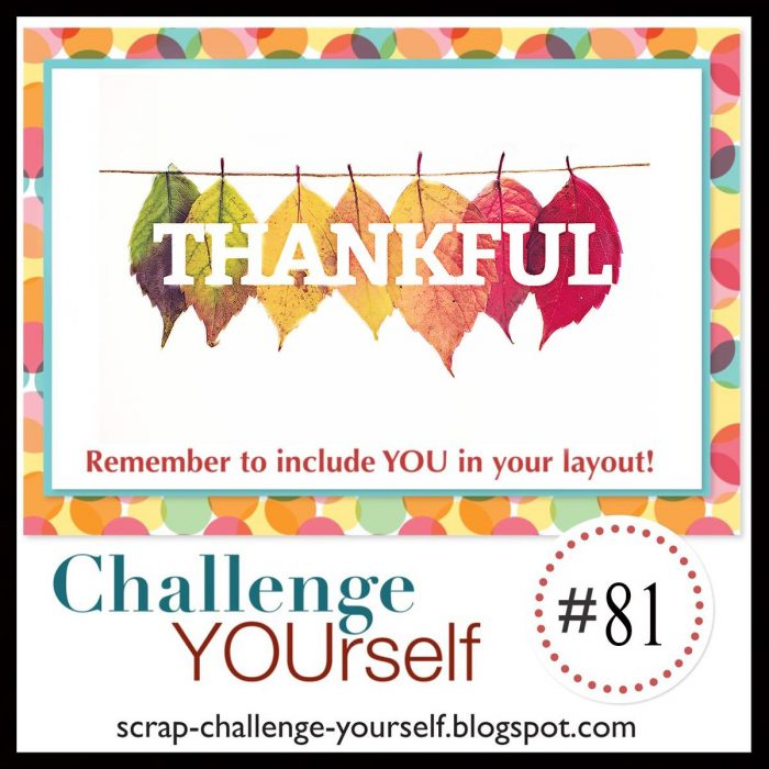 challenge yourself thankful scrapbook challenge