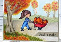 Create a Fall Card with digital images and Copic Markers